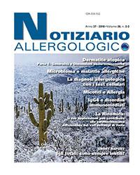 notiziario allergologico vol 36 2-3 cover